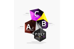 Vector low poly abstract infographics