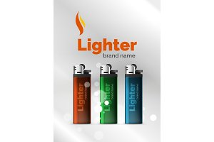 Vector lighter ad template