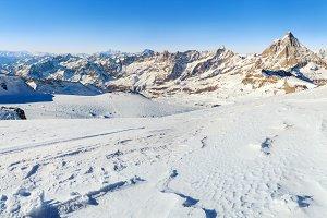 Winter skiing resort in Alps