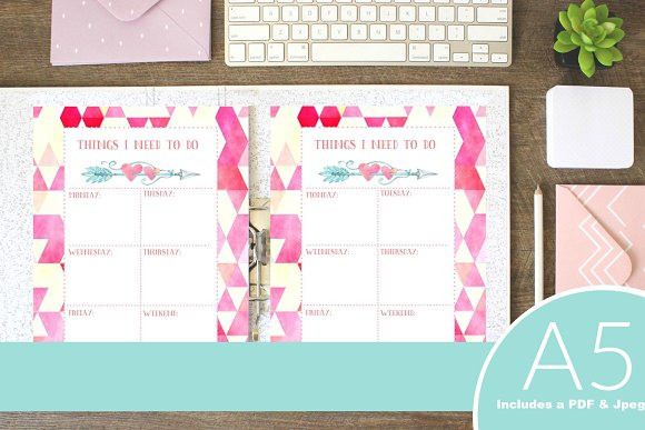 A5 Planner Insert: Weekly To Do List