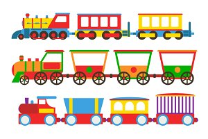 Toy train vector illustration.