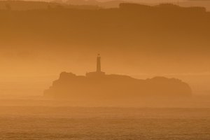 Fog at dawn in Mouro's Island
