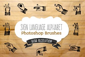 Sign Language Alphabet - brushes