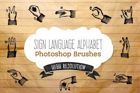 Sign Language Alphabet - brushes