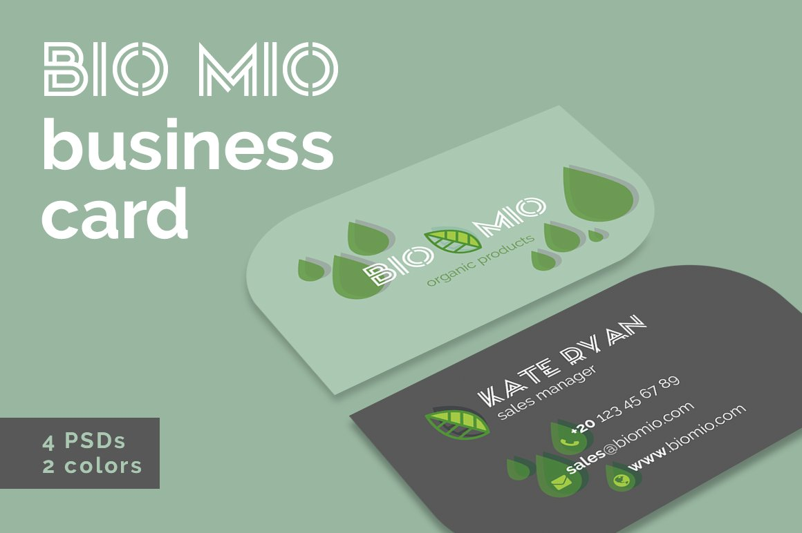 Bio Mio Business Cards Templates ~ Business Card Templates ...