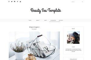 Blogger Template - BEAUTY SEA