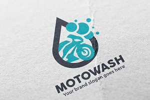 Motorcycle Wash Logo