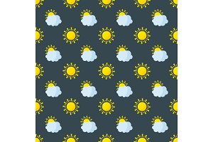 Seamless pattern weather vector.