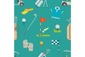 Golf seamless pattern vector