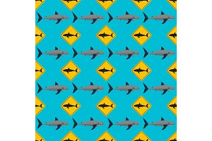 Vector shark seamless pattern.