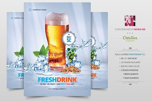 Fresh Drink Promotion Flyer | Poster