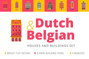 Dutch & Belgian-like houses set