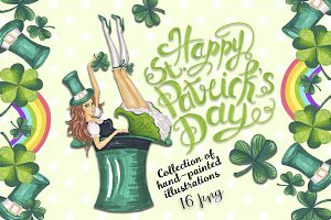 St.Patrick's Day Hand-drawn clipart