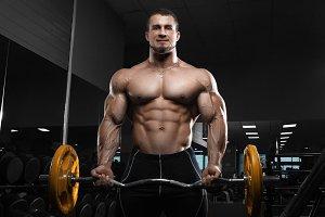 Muscular athletic bodybuilder