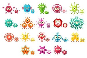 Bacteria And Virus Fun Set