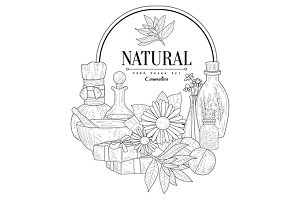 Natural Cosmetics Vintage Sketch