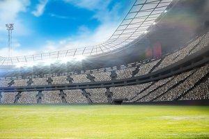 Composite image of a stadium