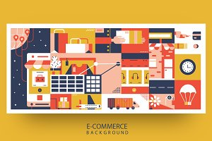 E-commerce online background