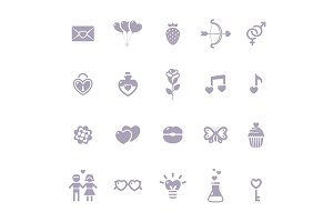 Valentine's day icons collection