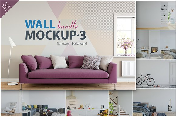 Free Wall Mockup - Bundle Vol. 3