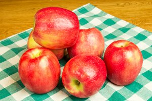 Red pink lady apples