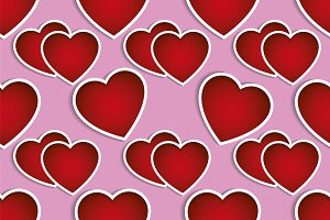 Red hearts background valentines