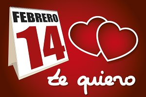 valentines day te quiero