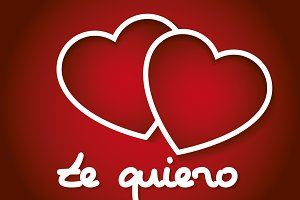 red hearts te quiero