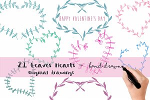 Original Leaves Hearts-Valentine Day