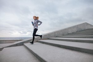 Healthy sports woman running