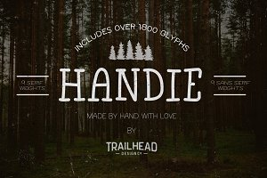 Handie Fonts - Over 1800 Glyphs