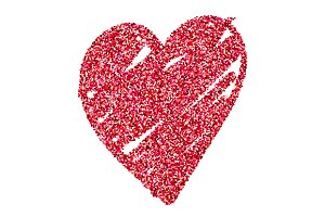 Red glitter red shine heart vector