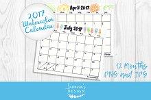 2017 Calendar Watercolor