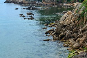 Summer sea coast, Costa Brava.