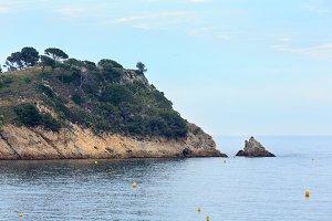 Summer sea coast, Costa Brava.