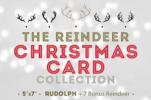Reindeer Christmas Card + 7 Bonus