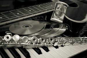 Music and money concept.