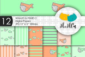 Whales and Fishes patterns