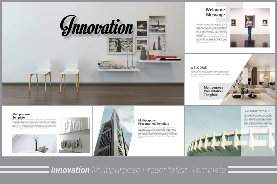 Innovation keynote template presentation templates for Official interior design