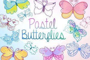 Pastel Butterflies Collection