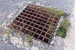 Steel grating drain cover