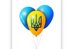 Balloon. Transparent isolated vector