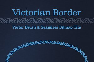 Victorian Border: Vector & Bitmap