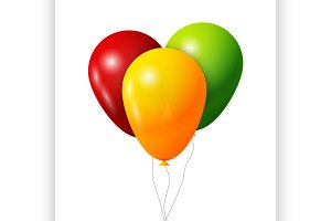 Colorful Balloons set