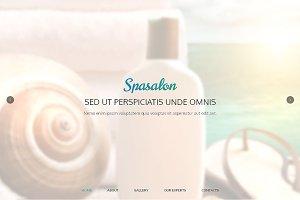 Spa Salon Responsive One Page Theme