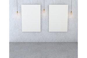 Mockup interior gallery.
