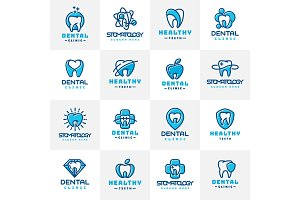 vector dental icon.