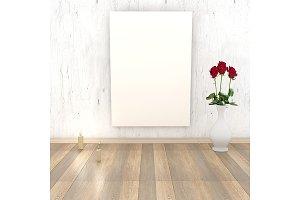 Empty wooden retro walls