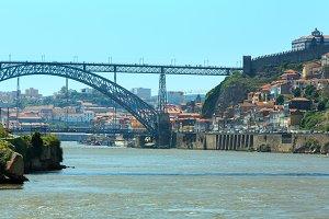 Bridge in Porto, Portugal.