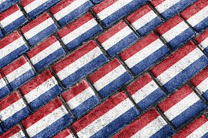 Holland Flag Urban Grunge Pattern